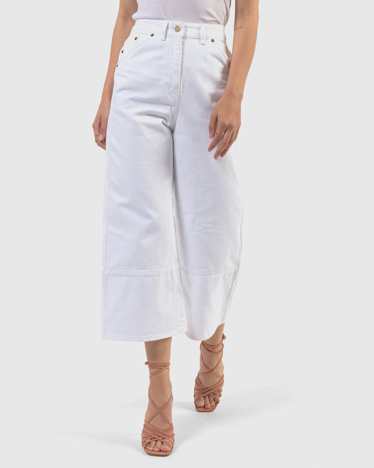 Le Pantalon Prago Court in White