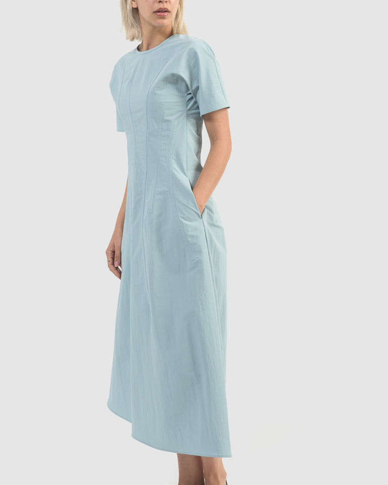 Girasole Dress in Light Pastel Blue