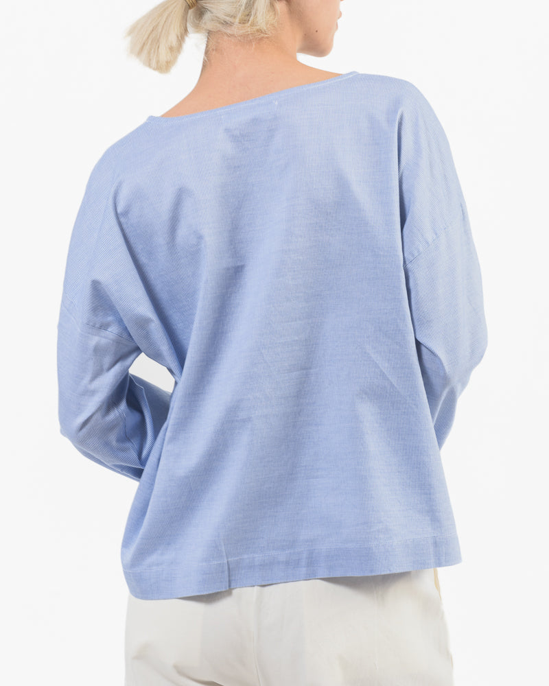 Simple Top in Blue Mini Stripe