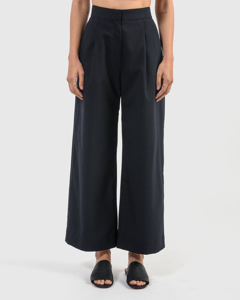 Anita High Waisted Pants in Navy