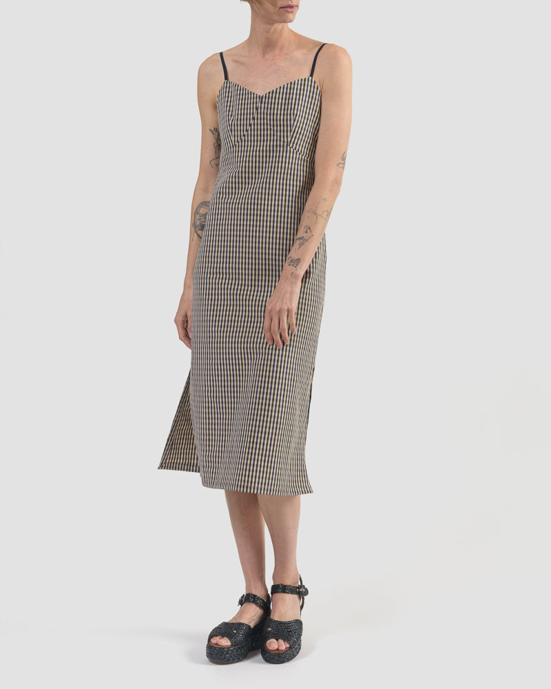 Florence Dress in Check by Jeana Sohn at Mohawk General Store