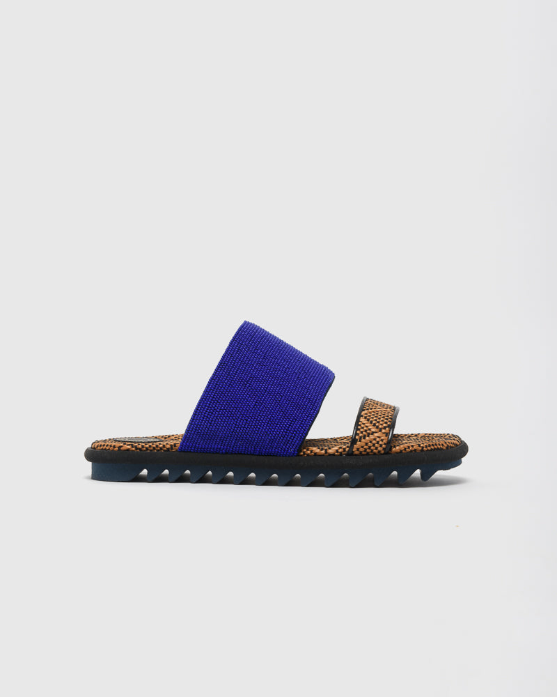 Beaded Slide in Blue by Dries Van Noten Woman at Mohawk General Store