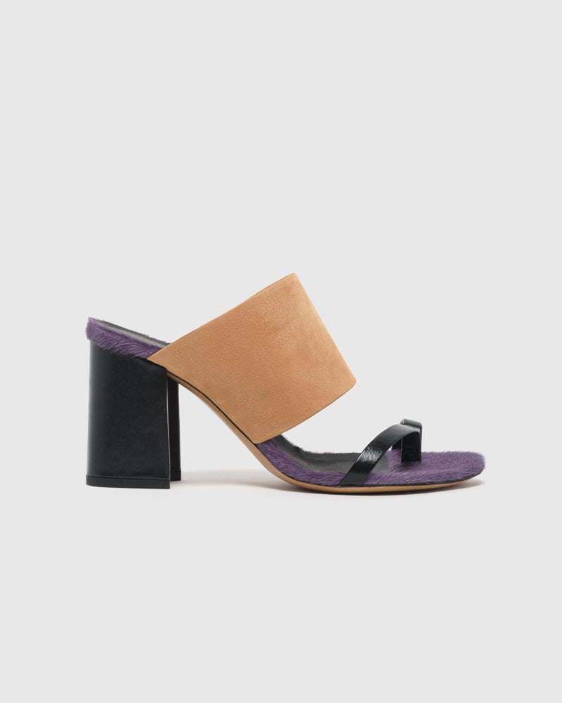 a83b60d85b Leather and Fur Mule in Black – Mohawk General Store
