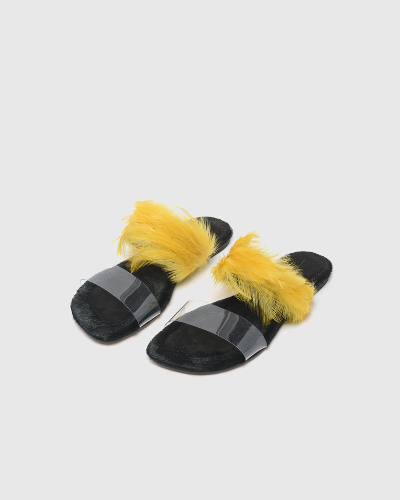 Feather Slide in Yellow by Dries Van Noten Woman at Mohawk General Store