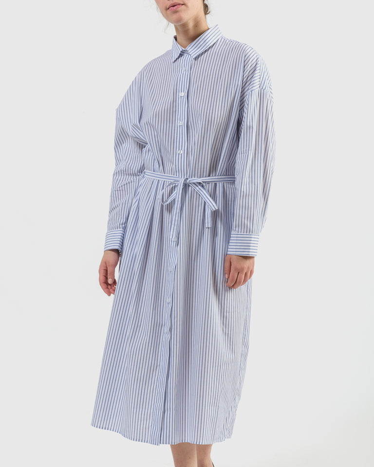 Kazu Dress in Blue Stripe