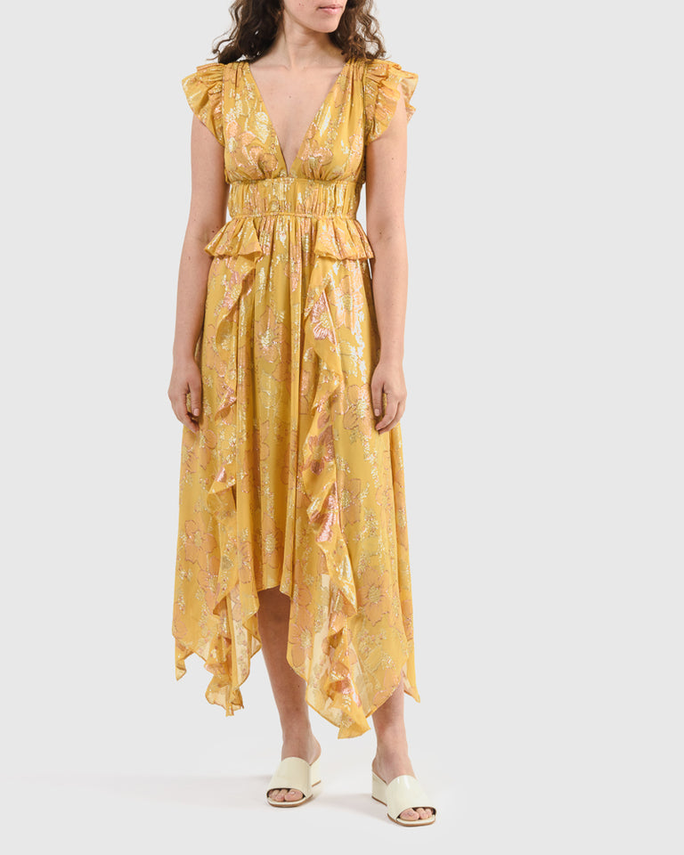Nerissa Dress in Citrine