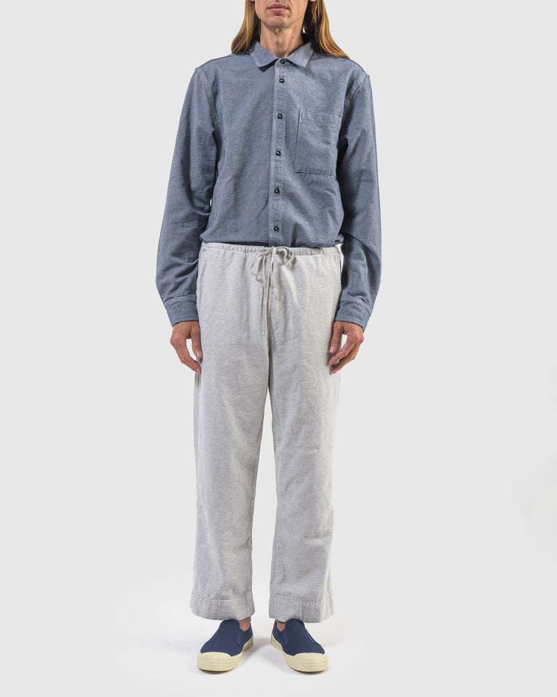 Yarn Dye Twill Home Pant in Grey