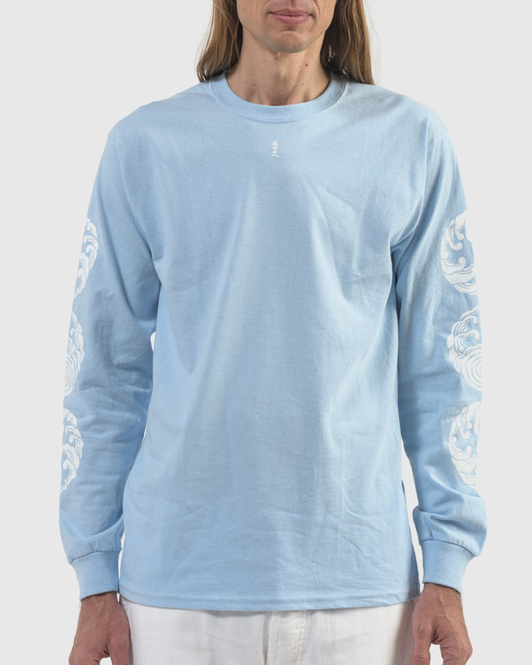 Sasquatchfabrix x M.G.S Long Sleeve T-Shirt in Light Blue