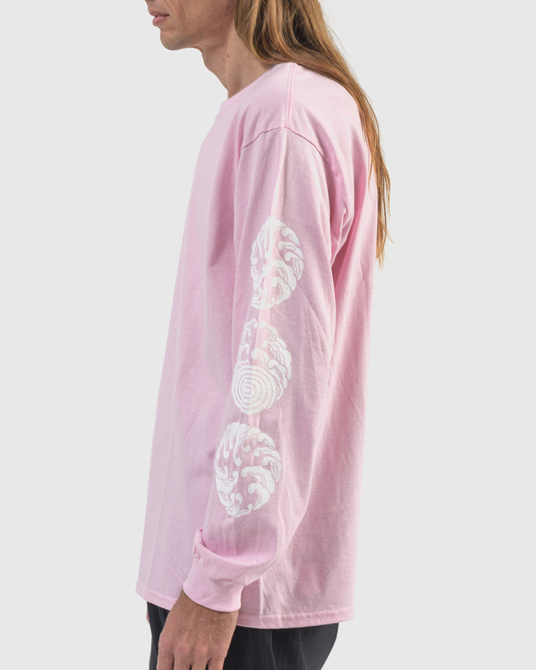 Sasquatchfabrix x M.G.S Long Sleeve T-Shirt in Light Pink