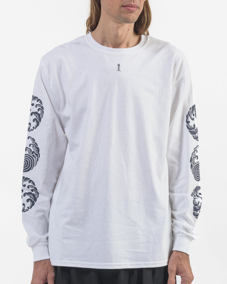 Sasquatchfabrix x M.G.S Long Sleeve T-Shirt in White