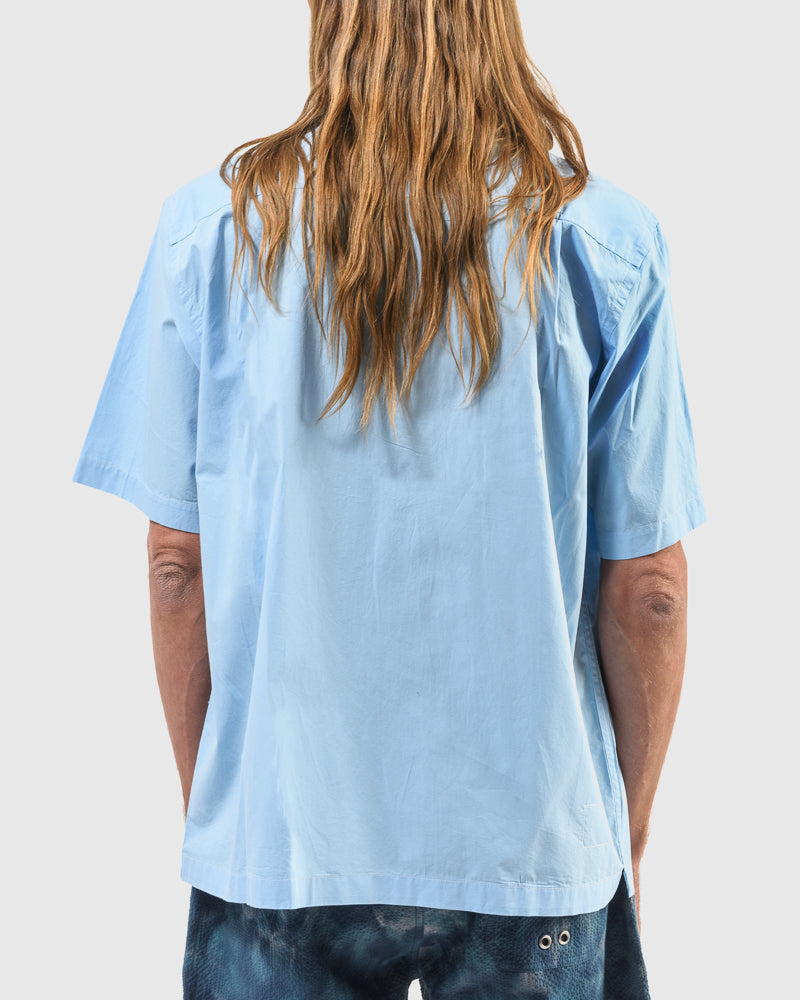 Utility Shirt in Sky Blue