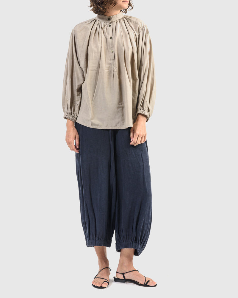 Balloon Sleeve Blouse in Sand by Black Crane at Mohawk General Store