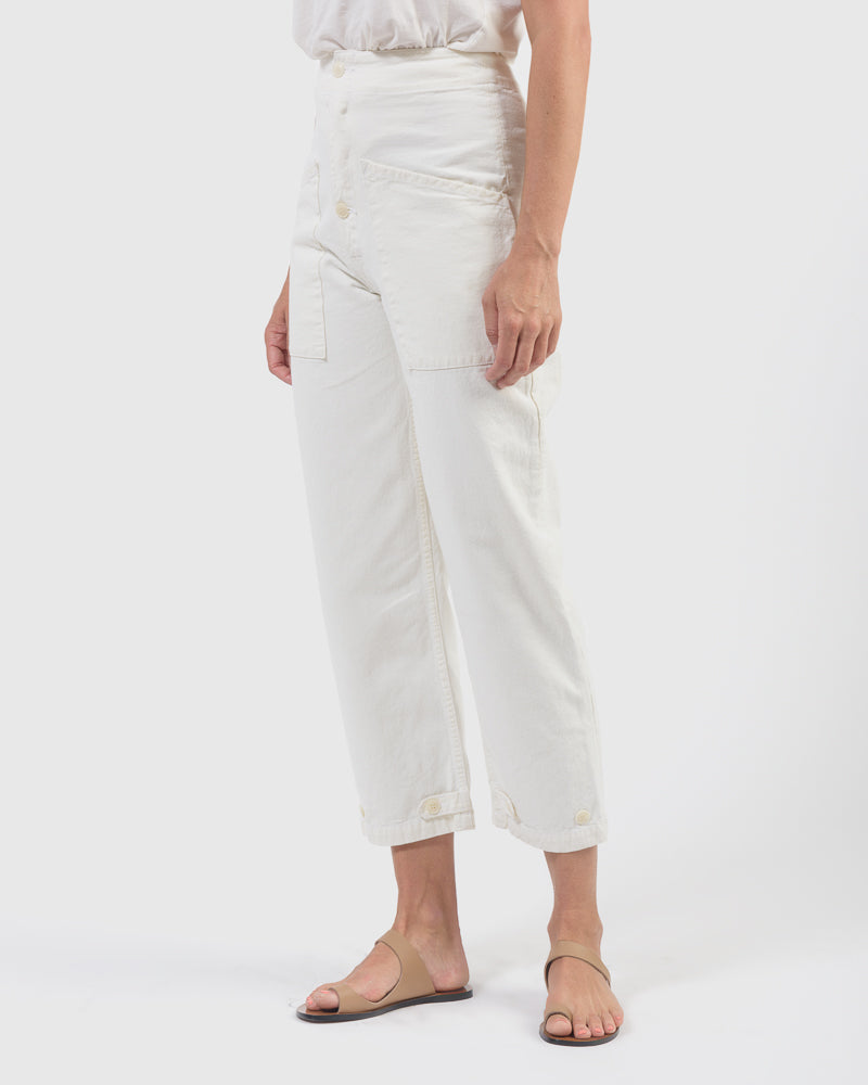 Artist Tab Pants in Ivory by Bliss and Mischief at Mohawk General Store