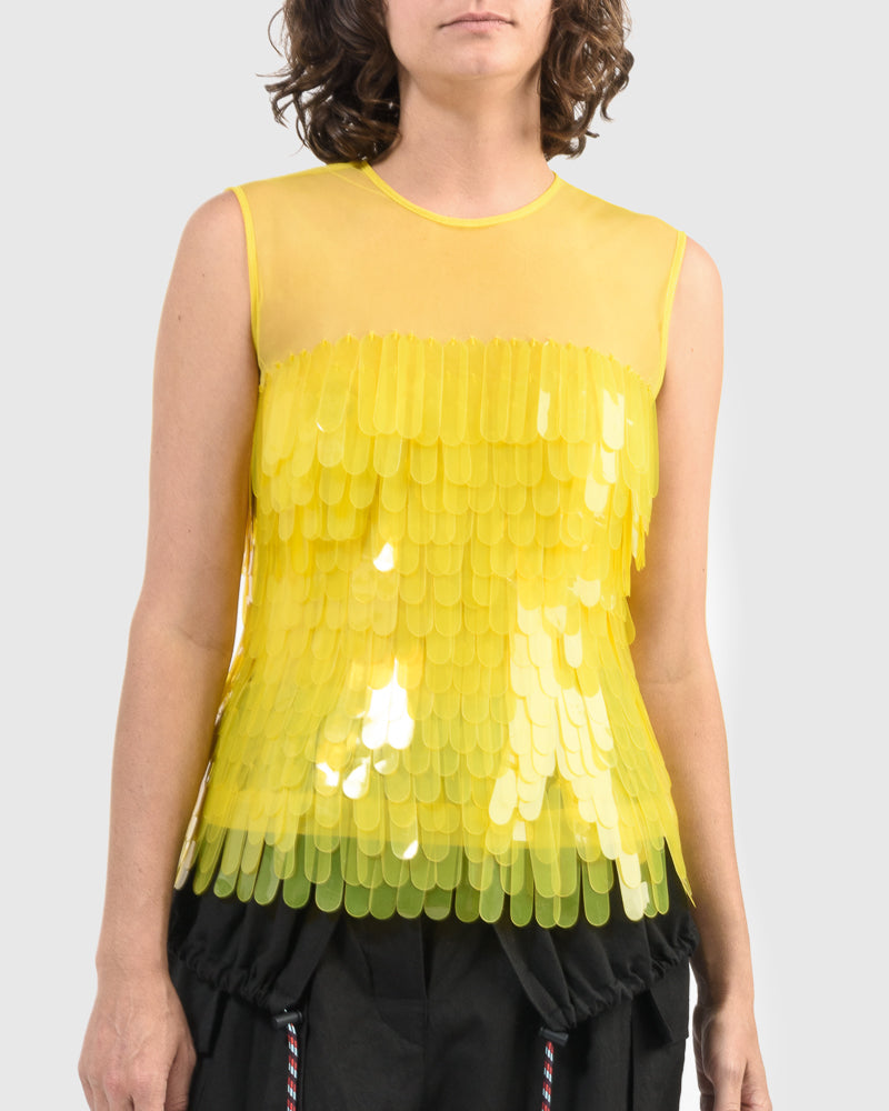 Centila Embellished Shirt in Yellow by Dries Van Noten Woman at Mohawk General Store