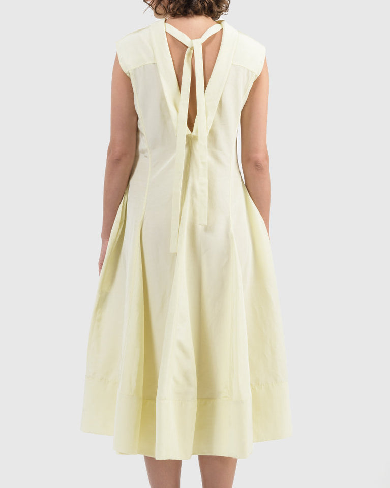 Gatsby Dress in Dark Yellow