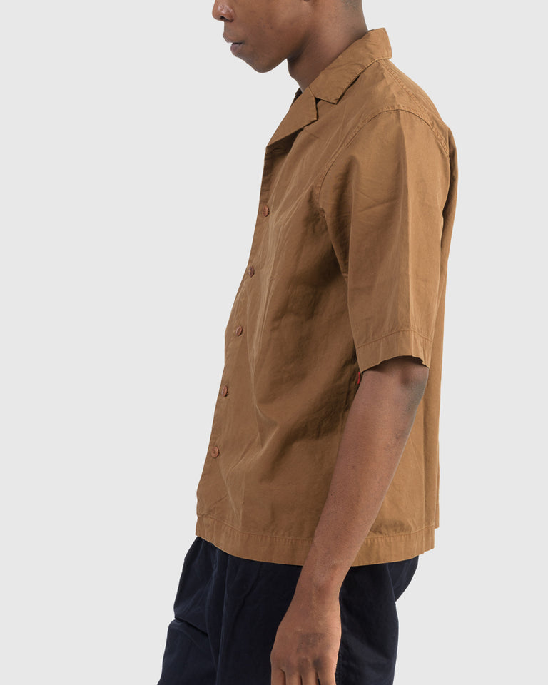 Verger Bowling Shirt in Caramel