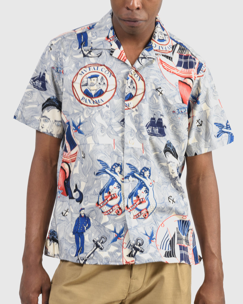 Shirt in Lost At Sea Print