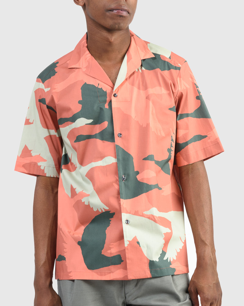 Bowling Shirt in Camouflage by Roi Du Lac at Mohawk General Store