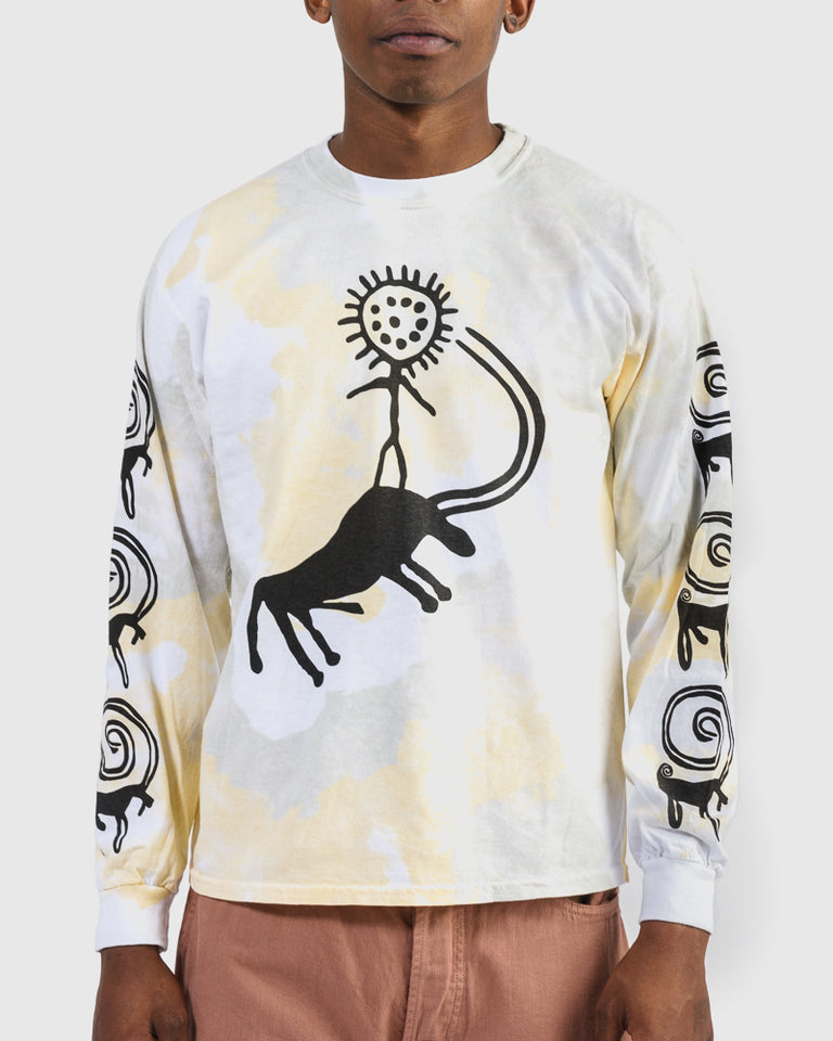 Nanpou Long Sleeve Tee in White Coyote