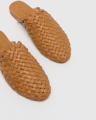 Bunto Woven Loafers in Almond