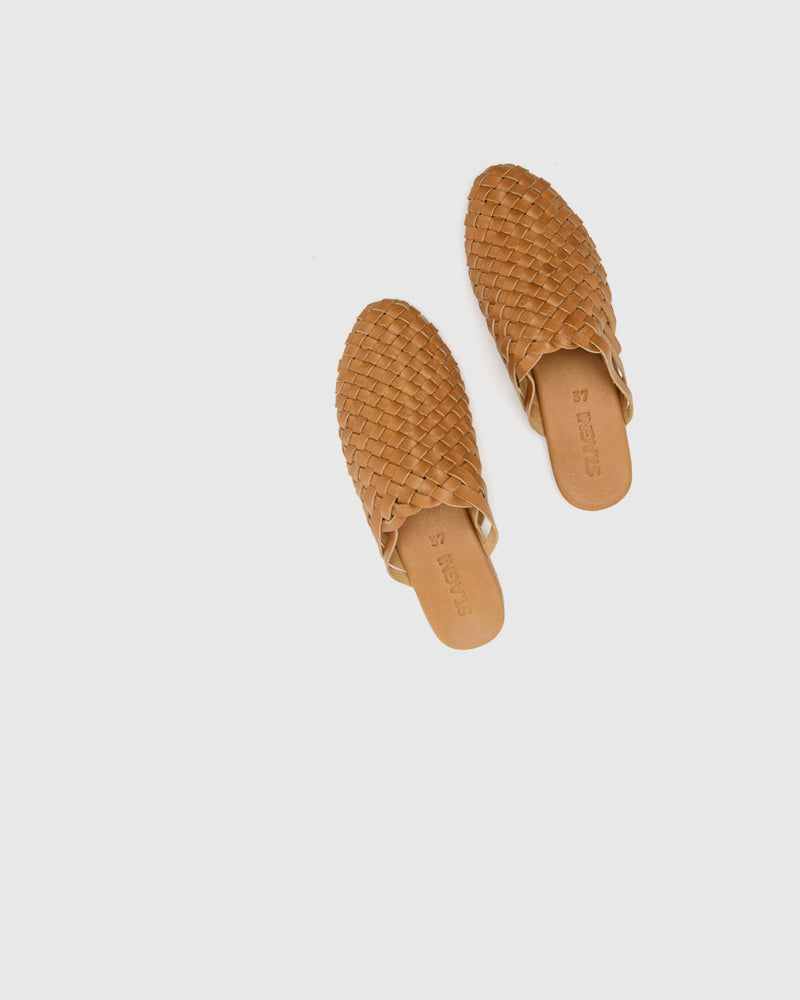 Bunto Woven Loafers in Almond by ST. AGNI at Mohawk General Store