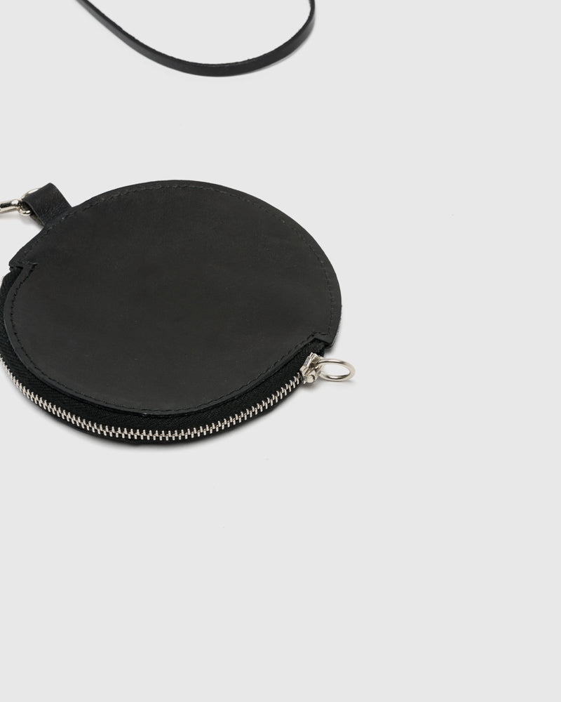 Zip Circle Wallet in Black