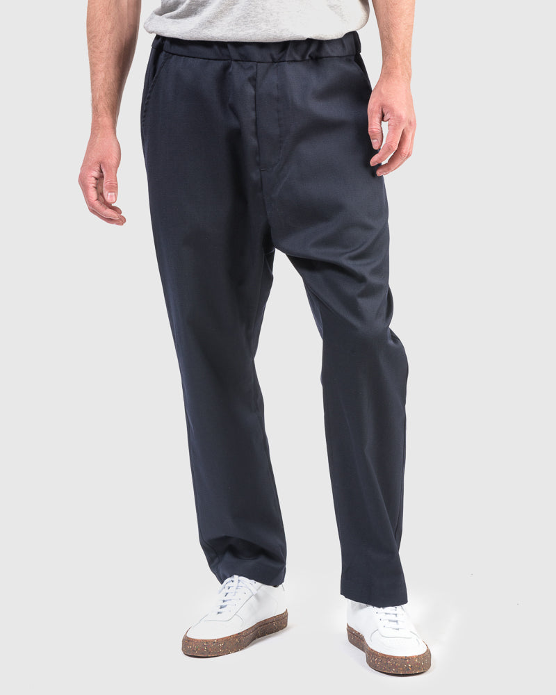 Wool Yoyogi Pant in Navy