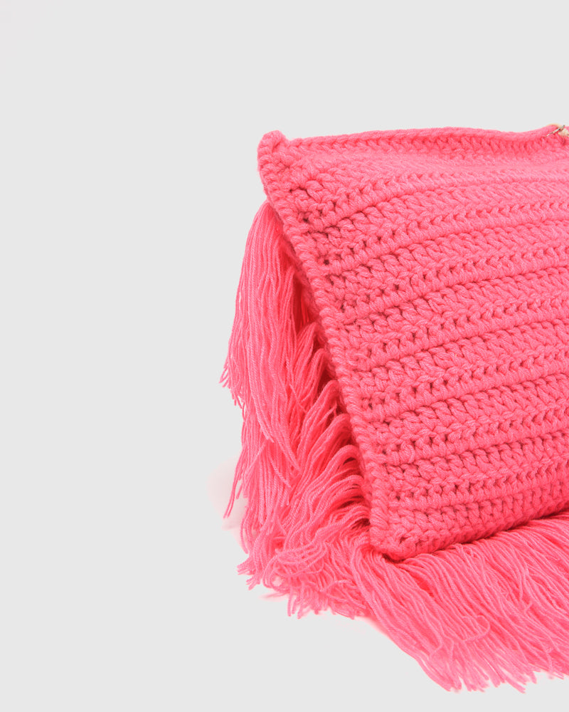 Hairy Pillow in Hot Pink by A Détacher at Mohawk General Store