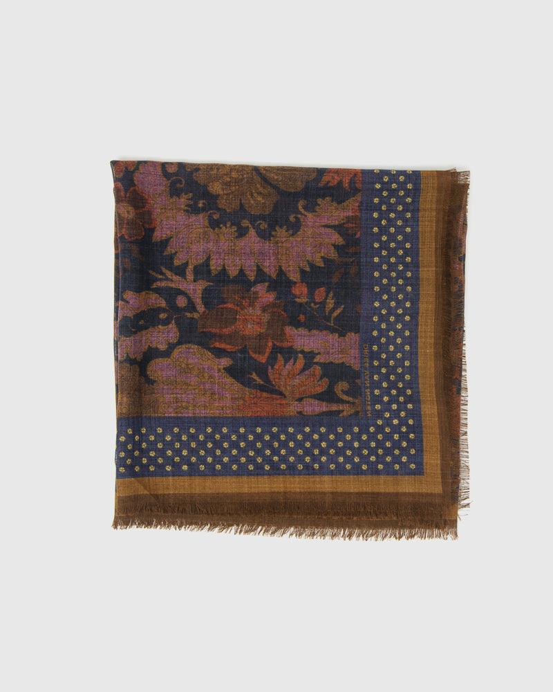 Foliage Scarf in Navy by Dries Van Noten Man at Mohawk General Store