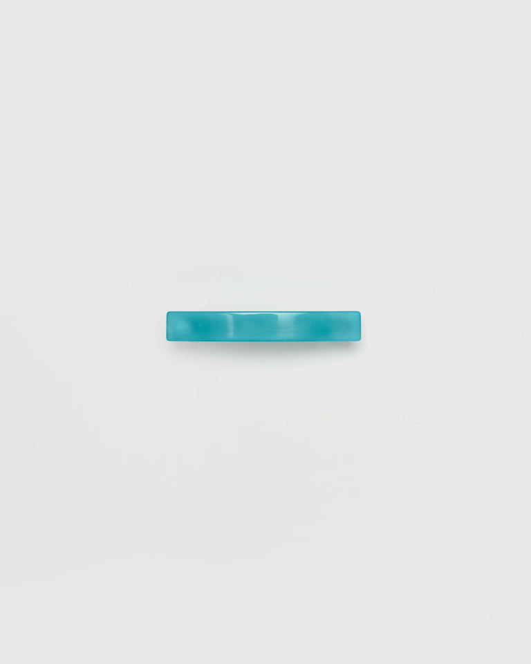 Short Lidia Barrette in Aqua Marble
