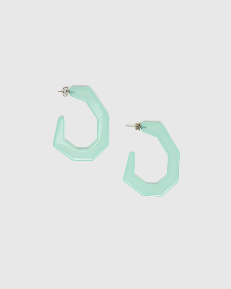 Baby Factor Earrings in Clear Jade