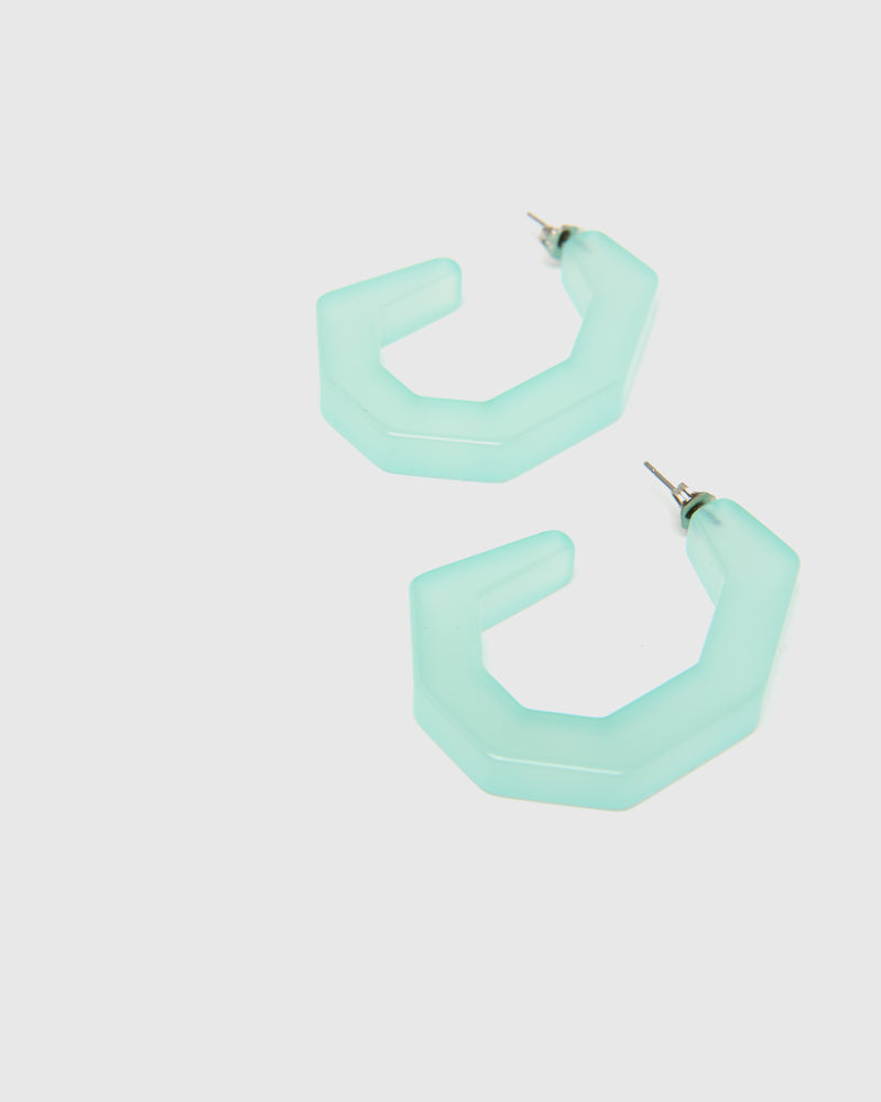 Baby Factor Earrings in Clear Jade by Rachel Comey at Mohawk General Store