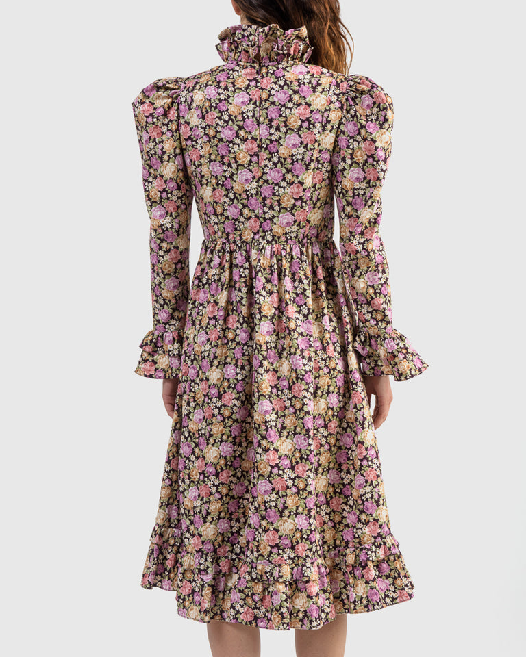 Prairie Dress in Rose Floral