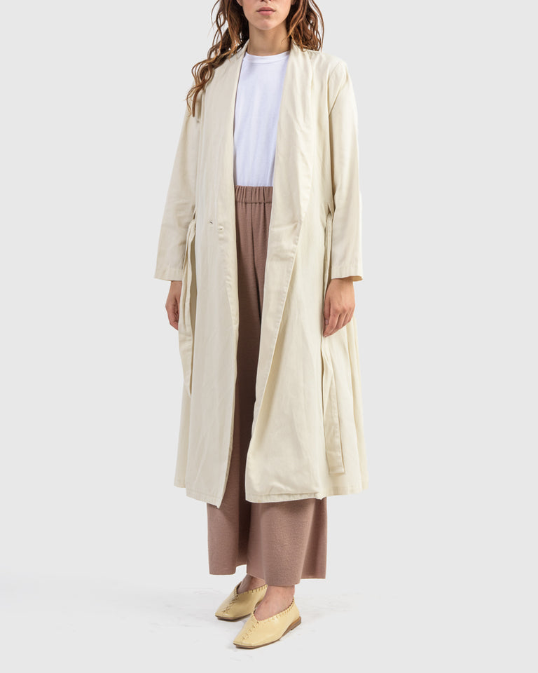 Classy Wrap Dress/Coat in Cream