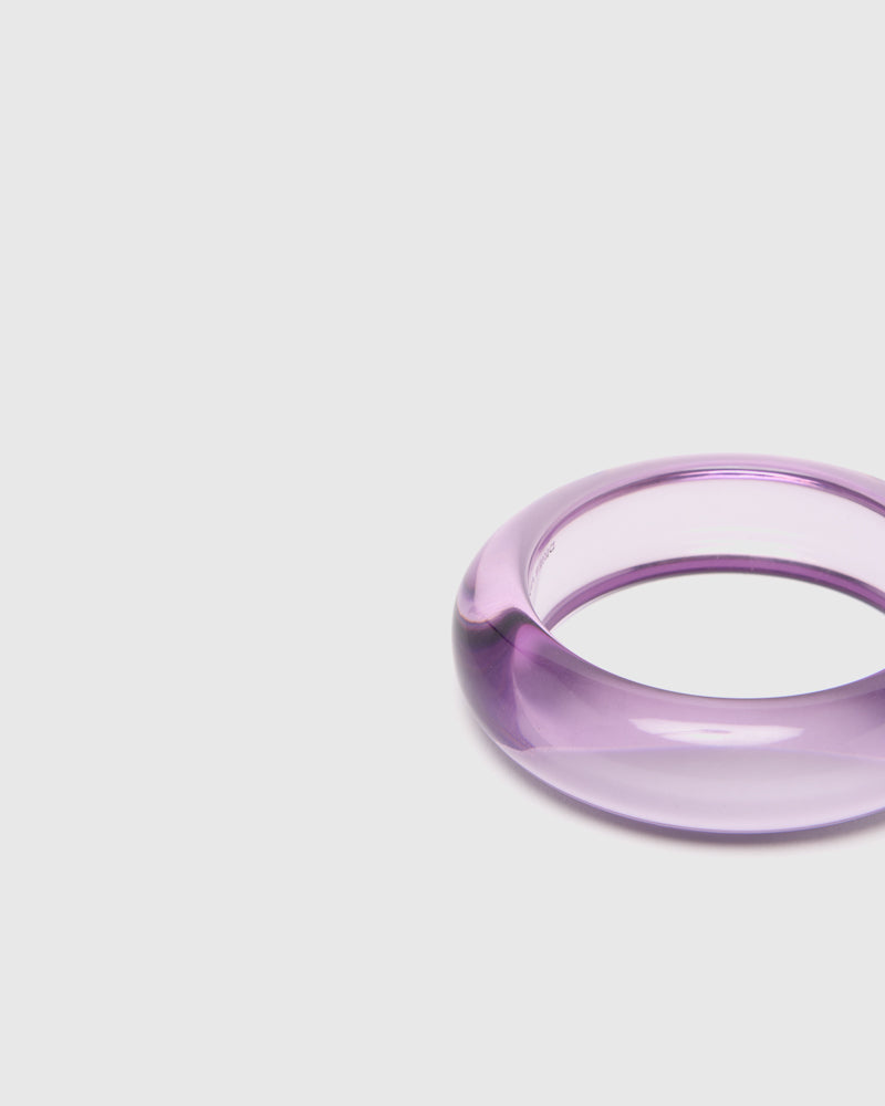 Transparent Bangle in Lilac