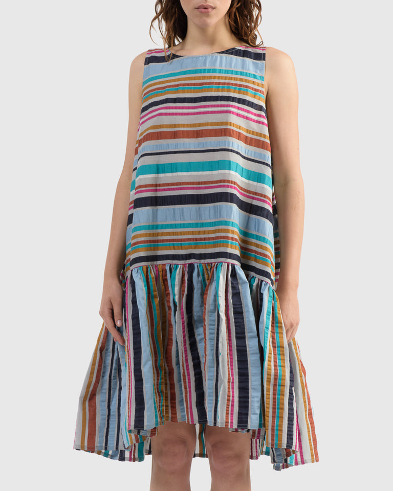 Master G Dress in Multi Stripes