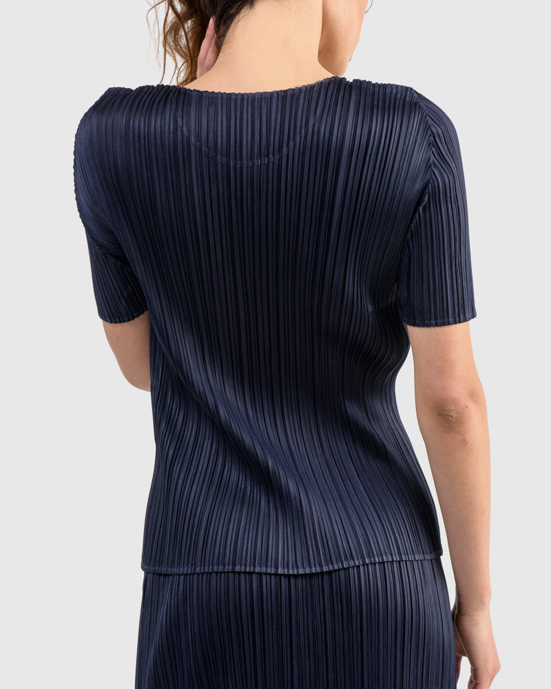 Basic Shirt in Navy by Issey Miyake Pleats Please at Mohawk General Store