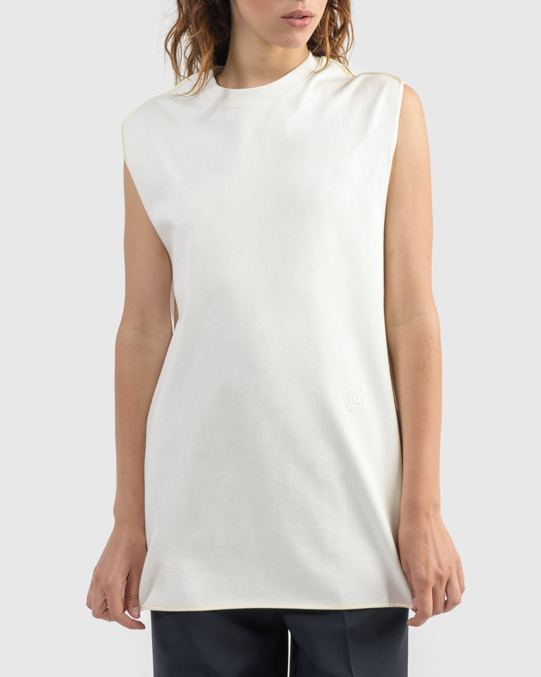 Sleeveless T-Shirt in Ultra White