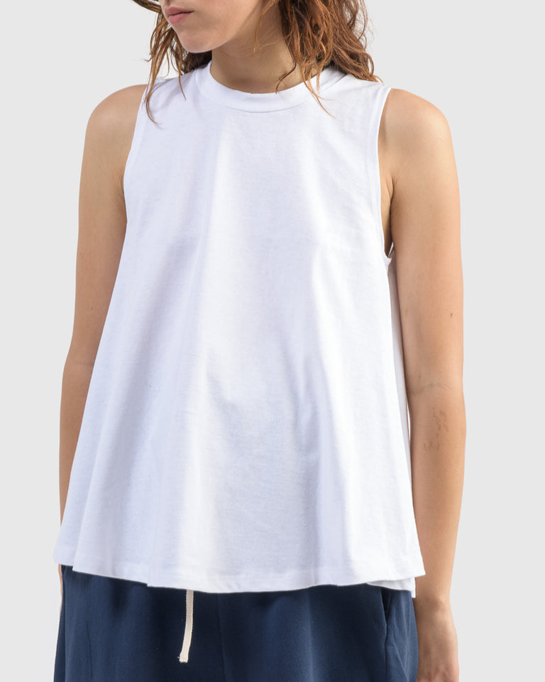 Swing Tank in White