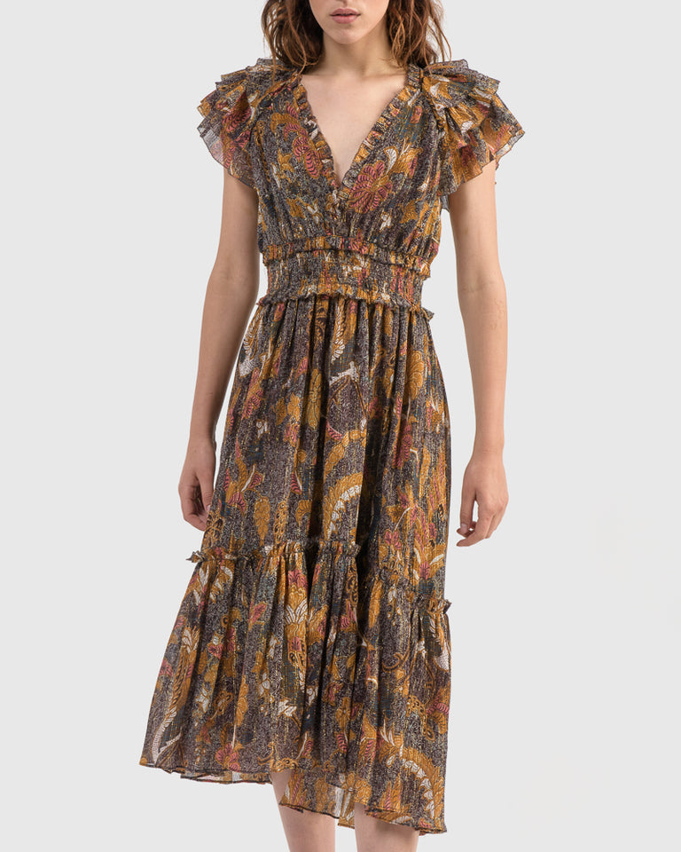 Cicely Dress in Amber