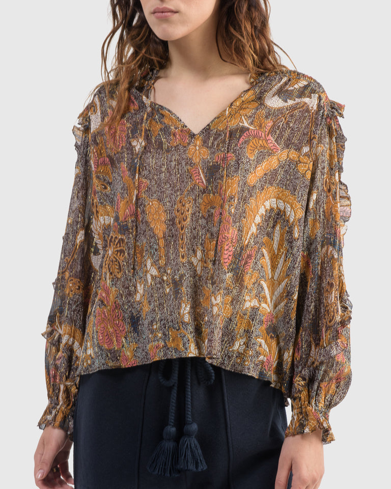 Lara Blouse in Amber