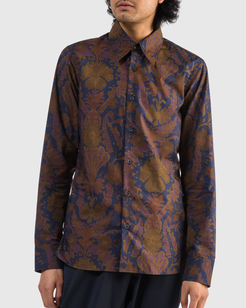 Clifton Shirt in Navy by Dries Van Noten Man at Mohawk General Store
