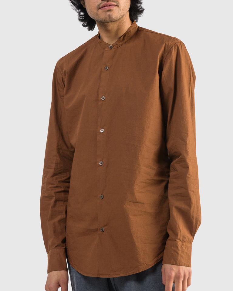 Claver Shirt in Rust