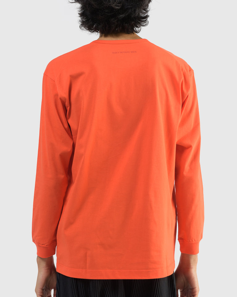 JK027 Long Sleeve Bio T-Shirt in Blood Orange