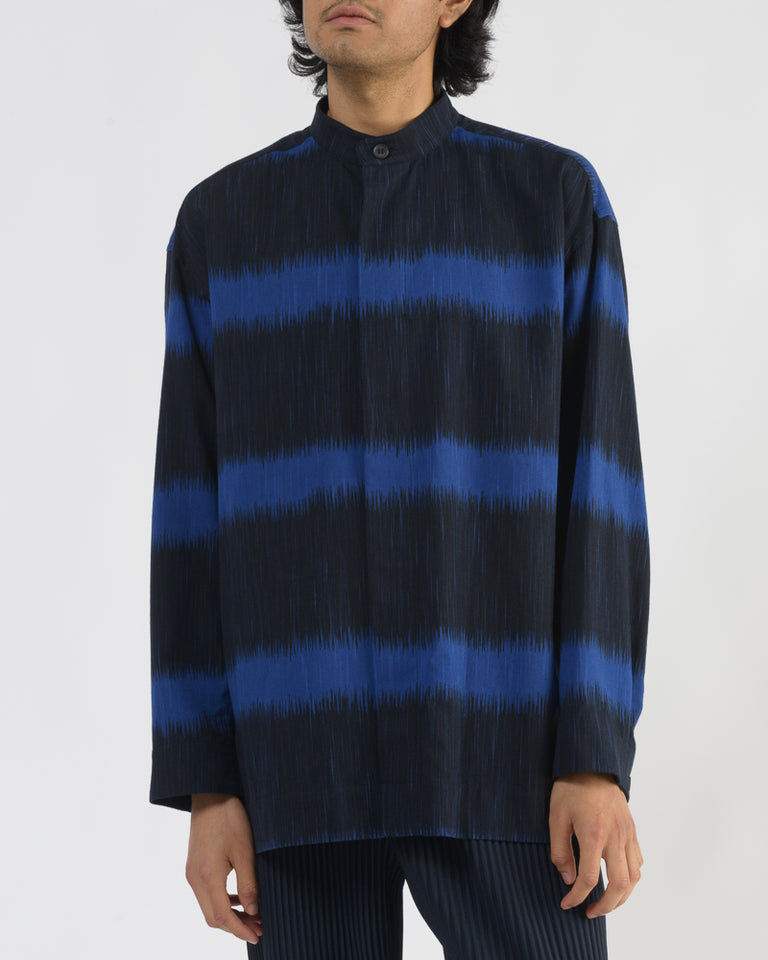 Ikat Border Shirt in Blue