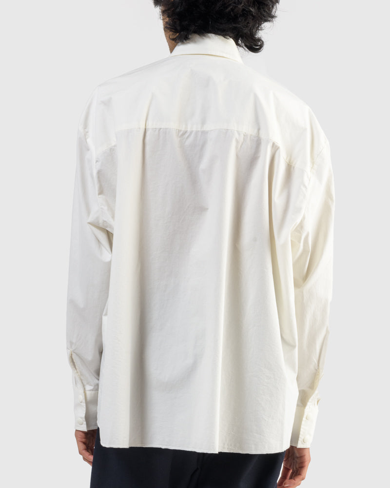Overshirt in Egg White