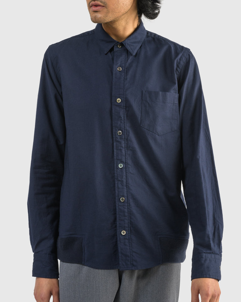 Cotton Shirt in Navy