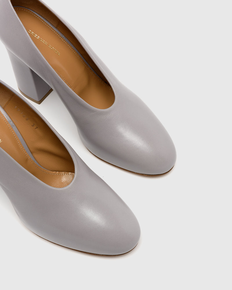 Block Heel in Lilac Grey by Dries Van Noten Woman at Mohawk General Store