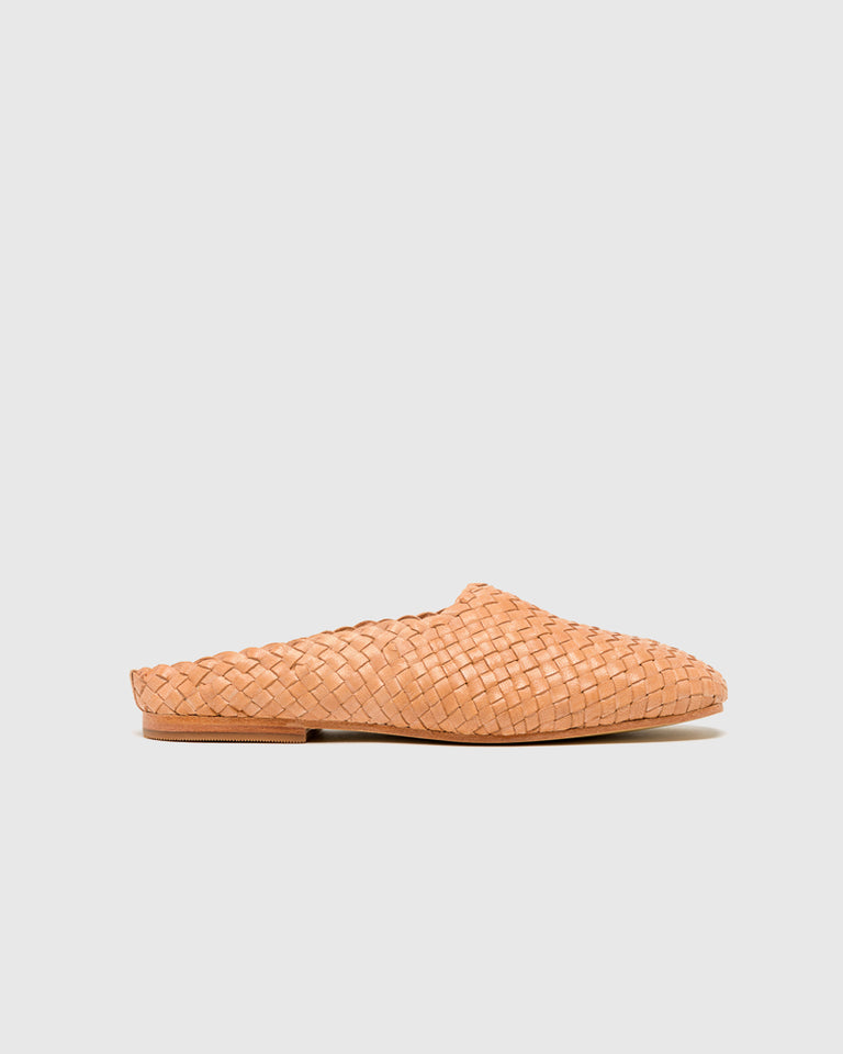 Agnes Woven Flat in Nude