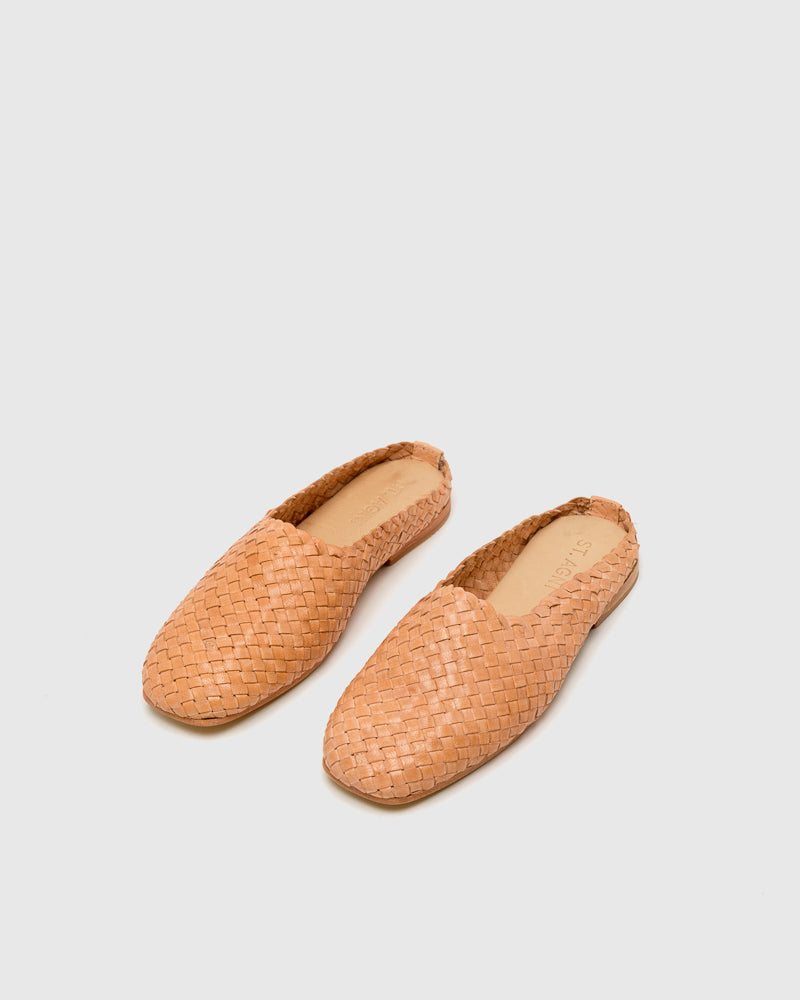 Agnes Woven Flat in Nude by ST. AGNI at Mohawk General Store